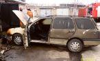 В ГСК «Лесничество» горел автомобиль