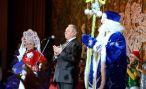 Пётр Рудник поздравил ребят на главной ёлке области