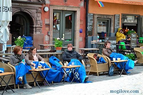 Стокгольм, уличное кафе