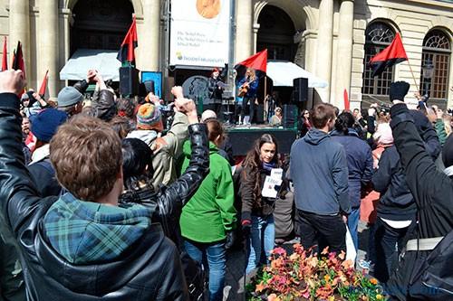 Швеция, митинг анархистов