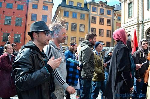 шествие анархистов в Швеции